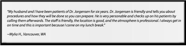 Vancouver real  dental patient testimonials, Jack Jorgensen DMD , Vancouver dentist
